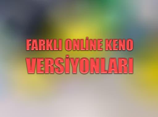 Farklı Online Keno Versiyonları
